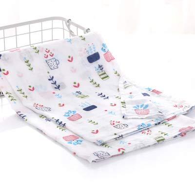 Hehong Muslin Toallitas para bebé y niños Manta Swaddle Toalla para recién nacido y baño Paño