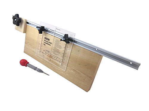 Taytools 606001 Deluxe Adjustable Hole Drilling Marking Installation Jig for Drawer and Door Pulls and Knobs Includes Center Punch