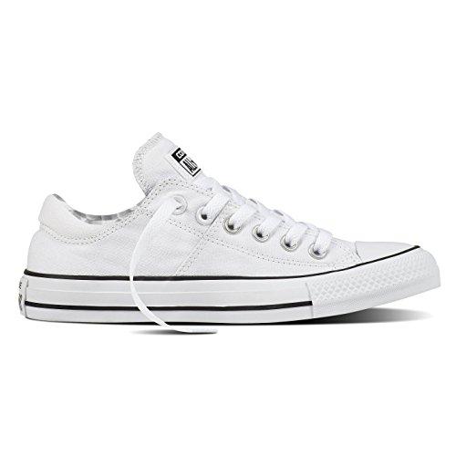 (Converse Chuck Taylor All Star Madison OX Fashion Sneakers White/White/Black Size 9 Women)