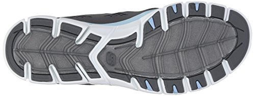 Skechers Deportivo Mujer Gratis Zapatillas de deporte elegante y elegante, punto negro - Charcoal/Light Blue
