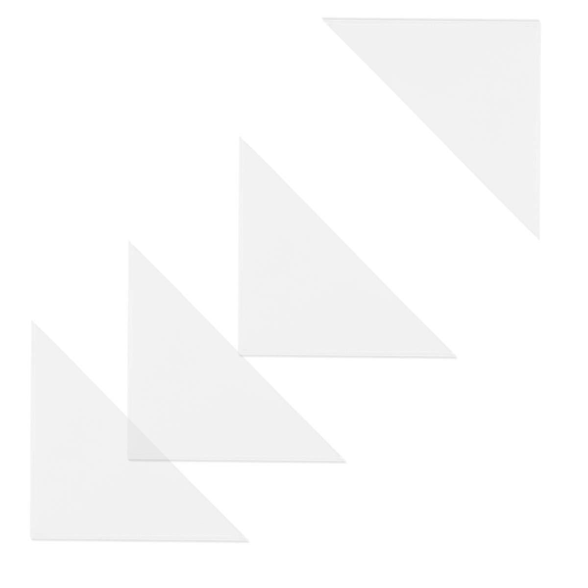 Dreiecktaschen Klarsichttaschen 500 St/ück selbstklebend transparent 50x50mm