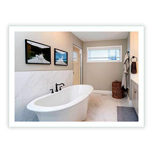 LED Side-Lighted Bathroom Vanity Mirror: 48