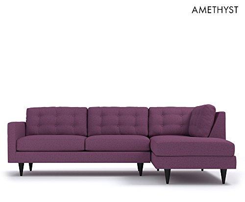 The Logan 2pc Sectional Sofa RAF Amethyst