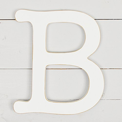 11.5'' Typewriter Wall Decor Letter ''B''- White by UNFINISHEDWOODCO