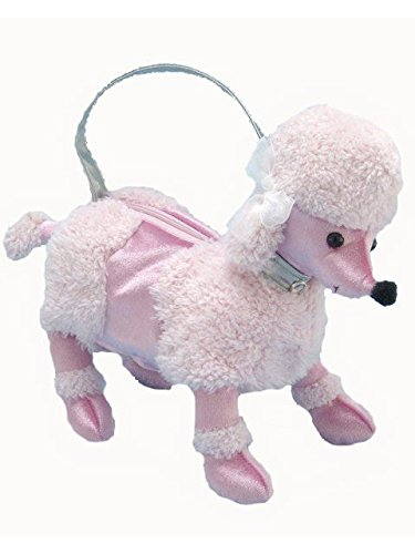 50's Costume Accessory Plush Pink Poodle Purse Handbag 13