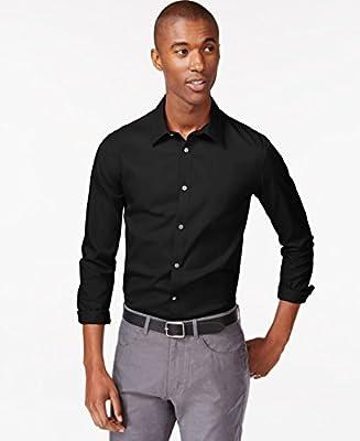 Calvin Klein Men's Infinite Cool Solid Button Down Shirt