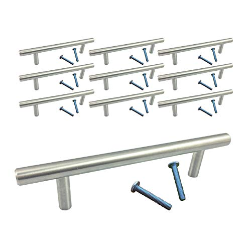 (Swiss Kelly Stainless Steel Kitchen Cabinet Drawer Bar Pull Handle (10 Pack L: 6
