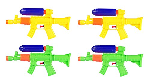 4-Pack AK47 Water Gun Squirt Shooters Bulk Party Pack (11-Inch)
