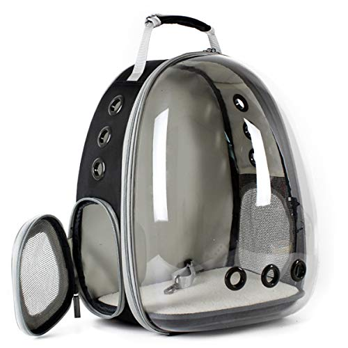 Transparent Pet Cat Carrier Backpack, Space Capsule Clear Bubble Cat Hiking Traveling Backpack for Small Dog Puppy -