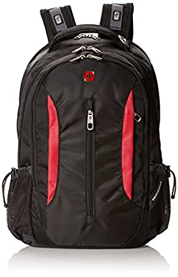 Swiss Gear SA1288 Black with Red Laptop Backpack - Fits Most 15 Inch Laptops and Tablets by SwissGear