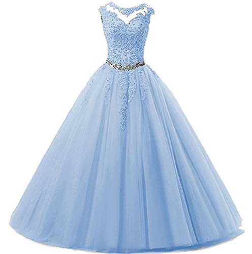 onlinedress Quinceanera Dress Lace Crystal Prom Ball Dress Beaded Homecoming Gown Long