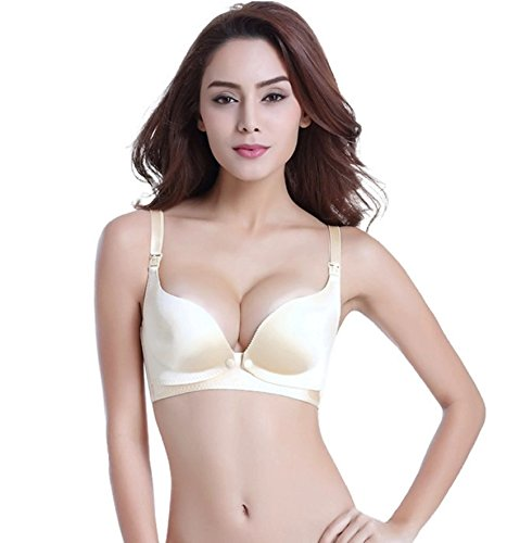Bravado Maternity Panties (Plus size Maternity Nursing Bra Wire Free Breastfeeding bra for pregnant women Underwear Breast Feeding Bra Nursing clothes (36, Beige))