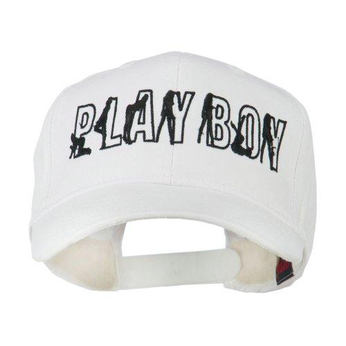 Playboy Embroidered Cap - White OSFM