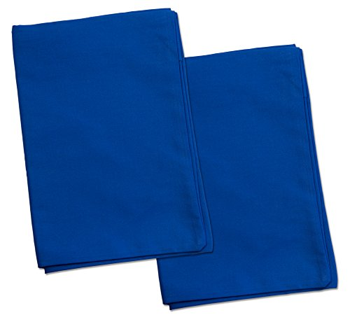 2 Blue Toddler Pillowcases – Envelope Style – for Pillows Sized 13×18 and 14×19-100% Cotton with Percale Weave – Machine…