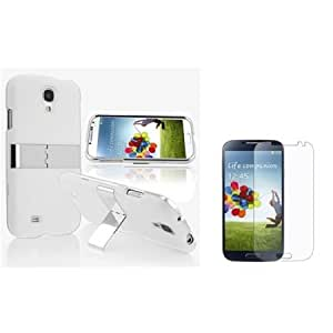 Cerhinu Everydaysource Compatible with Samsung? Galaxy S4 / S IV i9500 White with Chrome Stand Rear Snap-on Case + Anti-Glare...
