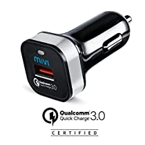Qualcomm® Certified Quick Charge 3.0 Mivi Car Charger for Super Fast charging