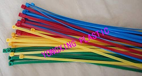 new 100pcs red yellow blue green 8 2.0x200mm Network Nylon Plastic Cable Wire Zip Tie Cord Strap bundle cable