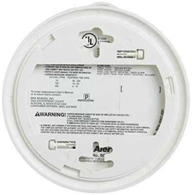 First Alert SCO5CN Battery Operated Combination Carbon Monoxide/Smoke Alarm from First Alert