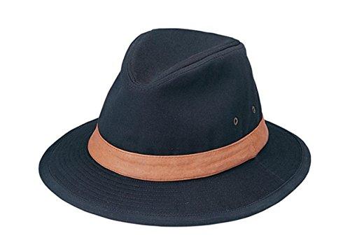 (G Men's Safari Shape Washed Cotton Twill Hat Large Black)