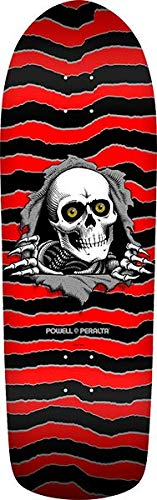 (Powell-Peralta Old School Ripper Red/Black Old School Skateboard Deck - 10