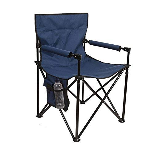 (Sundale Outdoor Folding Directors Chair Portable Camping Chair with Side Bags and Carry Bag, Supports 265lbs, Powered Coated Steel Frame Heavy Duty for Travel, Hiking, Fishing, Picnic, Navy Blue)