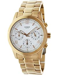 Guess Women's W16571L1 Rose-Gold Stainless-Steel Quartz Watch with Silver Dial