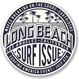 Long Beach California Vinyl Decals Stickers (TWO PACK!!!) Cars Trucks Vans Walls Laptops Printed Color 2-4 in decals KCD566