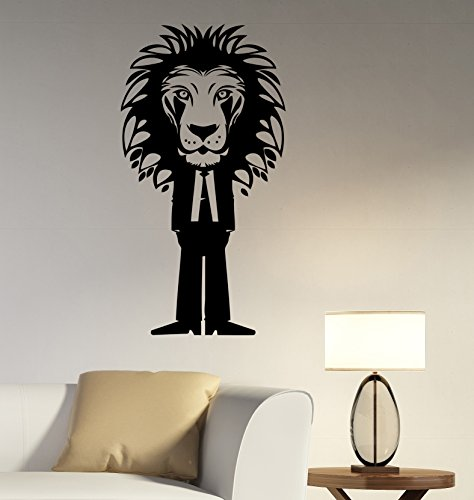 [Lion Vinyl Decal Wall Sticker African Wildlife Art Decorations for Home Housewares Living Room Bedroom Office Animal Decor] (Best Friend Costumes Ideas Diy)