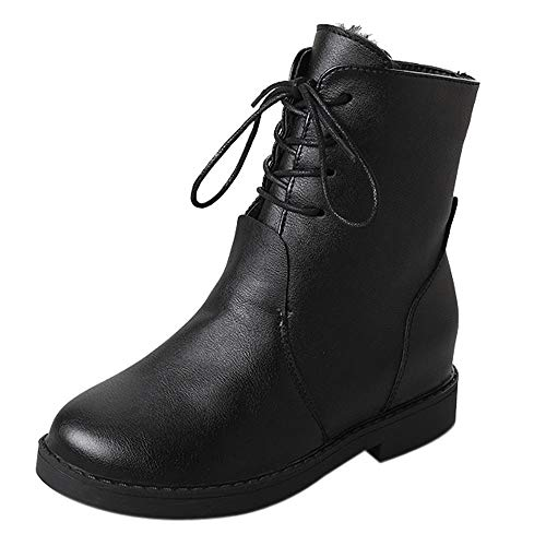Women Ankle Martin Boots,Mosunx Lady Motorcycle Boots (6B(M) US, Black) by Mosunx Women Shoes