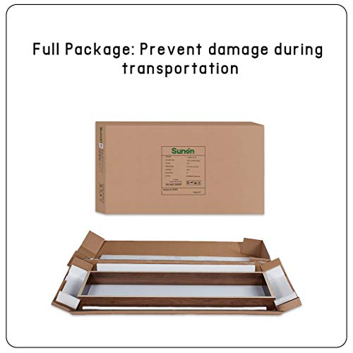 Sunon Folding Training Table 55'' Rectangle Wood Folding Table for Training/Meeting Room (White, 55-Inch Length) by Sunon (Image #5)
