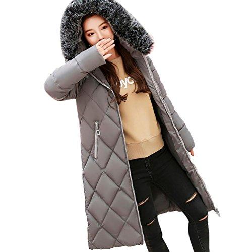 solide Femmes Hiver Manteau Mince plus Hiver Tefamore qnx6XC4