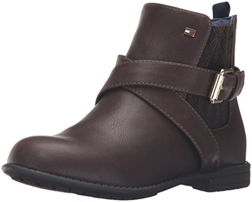 Tommy Hilfiger Kids Andrea Harness Boot (Toddler/Little Kid/Big Kid), Brown, 5 M US Big Kid