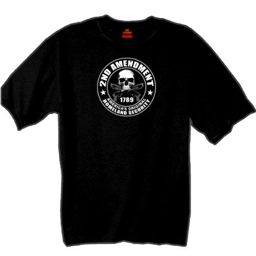 Hot Leathers 2nd Amendment 100% Cotton Double Sided Printed Biker T-Shirt (Best Biker T Shirts)