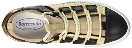 Bd0704 Turnschuhe Barracuda Damen mehrfarbig niedrige mehrfarbig Beige dqw1x8
