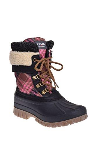 Cougar Women's Creek Boot, Pink Scottish Plaid - (Plaid Womens Boots)