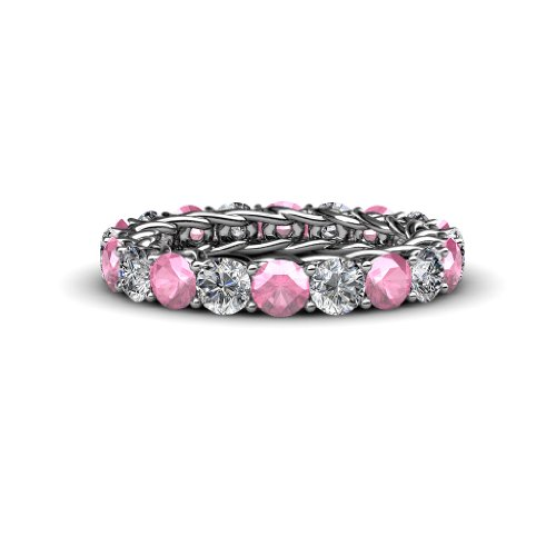 Pink Tourmaline and Diamond 3.