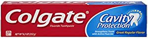Colgate Cavity Protection Fluoride Toothpaste, Regular Flavor, 8.2 oz (Pack of 6)