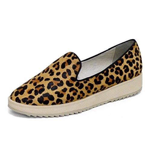 Andrew Stevens Women's Fanny Fashion Sneaker Leather and Hair-On (8, Leopard - Fashion Fall Palermo Olivia