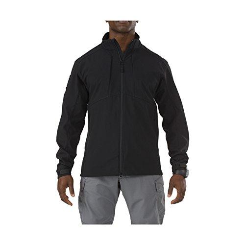 5.11 Men's Sierra Soft-Shell Jacket, Black, X-Large