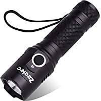 LED 懐中電灯 USB充電式 超高輝度 ハンディライト IPX6 防水 軍用 強力 防災