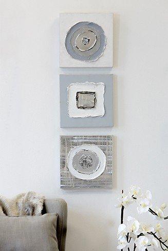 Wandbilder \'Geometrical\', 3-teiliges Set, 30 cm, mehrfarbig ...