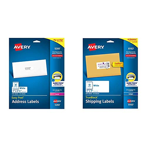 Mittens Address Labels - Avery Address Labels with Sure Feed for Laser Printers, 1