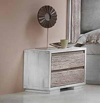 Legno&Design Mesita 3 cajones de Madera con rieles con ...