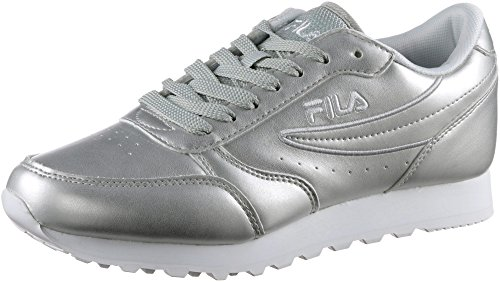 Fila Womens Orbit P Low Synthetic Sneakers Silver FTdQeYC