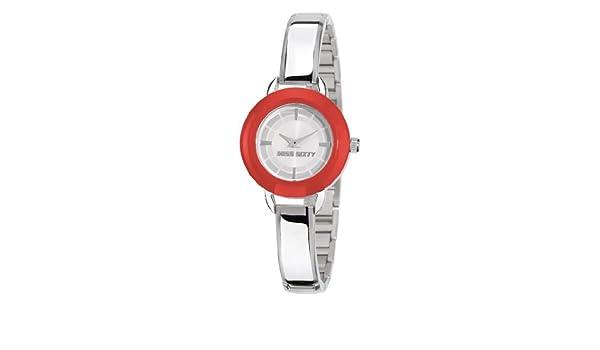 Miss Sixty Sih001 - Reloj para niñas de cuarzo, correa de acero inoxidable color plata: Amazon.es: Relojes