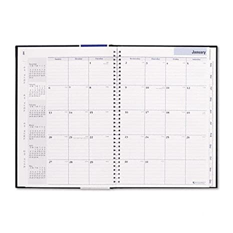 amazon com hard cover monthly planner 7 7 8 x 11 7 8 black 2017