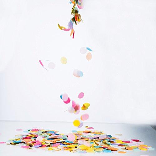 Outus 1 Inch Multicolor Round Tissue Confetti, 10000 Pieces