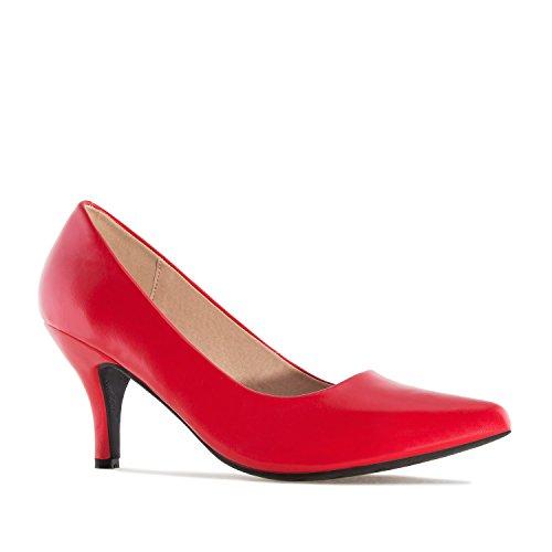 Andres Machado AM5286 - Eleganter Damenschuh.EU 32 bis 35/42 bis 45 Soft Rot