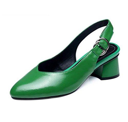 Sandals Coarse heel sandals Women's comfortable toe sandals Fashion sandals Women's shoes Flat Sandals,Fashion sandals (Color : A, Size : 36) A