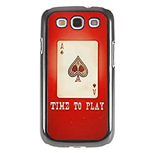 get Spade A Pattern Mirror Smooth Back Hard Case with HD Screen Film 3 Pcs for Samsung Galaxy S3 I9300